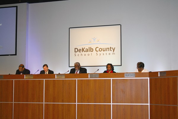 Members of the DeKalb County school board approved a settlement agreement for Superintendent Cheryl Atkinson Feb. 8 and appointed former Georgia Labor Commissioner Michael Thurmond as interim superintendent.