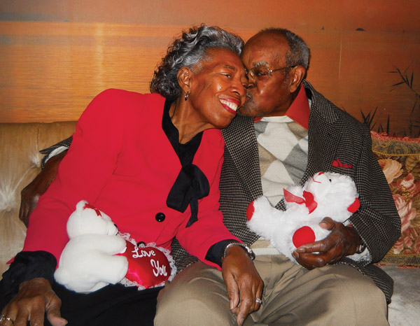 Willie B. and Dorothy Devereux, who will celebrate 30 years of marriage, spent Valentine's Day with each other at home. Photo by Carla Parker