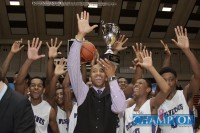 BOYS BASKETBALL: MILLER GROVE WINS RECORD FIFTH STATE CHAMPIONSHIP. Photo by Travis Hudgons