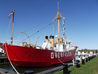 The Lightship Overfalls once served as a floating beacon to help ships navigate at night.