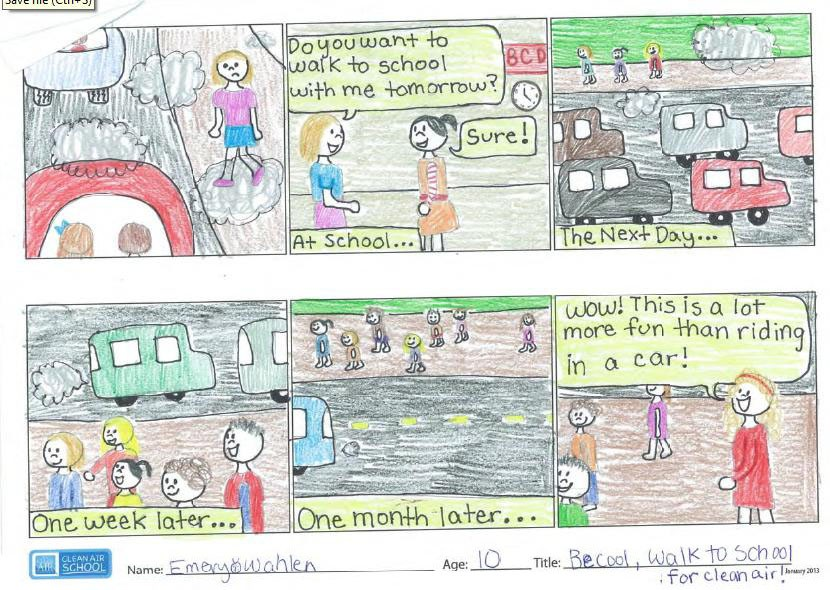 Kittredge magnet school student wins antipollution art contest