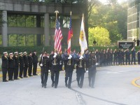 DeKalb County first responders and elected officials remembered 9/11 victims at the 9/11 memorial in front of DeKalb County Public Safety Headquarters. Photos by Carla Parker