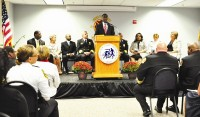 Interim DeKalb County CEO Lee May announced several initiatives to improve public safety during a Sept. 11 address. Hundreds of first responders and county officials attended the address. Photos provided
