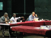 DeKalb County commissioners discuss how to manage the county's budget for FY 2014 at a recent retreat at the Porter Sanford Arts and Community Center in Decatur. Photo by Daniel Beauregard