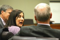 Andrea Sneiderman appeared in court recently to try to obtain the assets from her late husband's estate. File photo