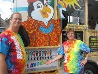 Owners Jeff and Karen Thomas point out one of the truck's most popular features, the self-serve FlavorwaveTM.