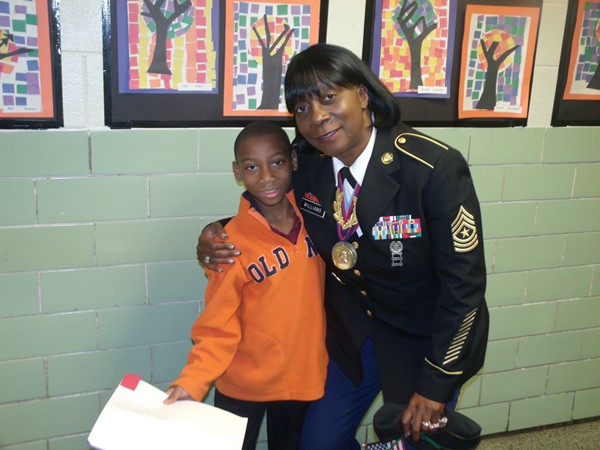 Military veterans were honored stars at DeKalb Elementary School of the Arts on Veterans Day. Photos by Andrew Cauthen