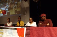 Nuba and Naima Jackson sign their letters of intent to Winthrop University. Photos by Carla Parker