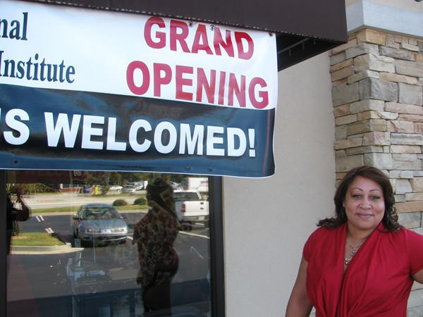 West opened her salon on Mountain Industrial Boulevard in September. Photos by Kathy Mitchell
