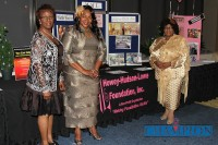 From left, Howey Hudson Lowe Foundation Inc. founders Goldie Evans-Lipshaw, Brenda Jackson and Norma Washington.