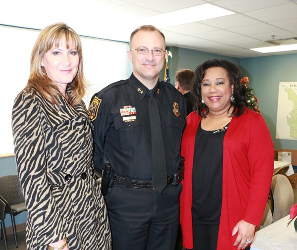 Deputy Chief Operating Officer for Public Safety Cedric Alexander and other county officials were present Dec. 16 to celebrate a successful year of the Tucker police precinct. Photos by Daniel Beauregard
