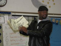 took time to read to students at Columbia Elementary School. Photos by Andrew Cauthen