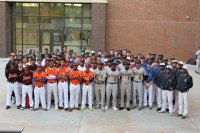 Baseball players from DeKalb County's high school and private school pose for pictures during media day at Tucker High School. Photos by Travis Hudgons