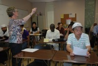 Pat Kuzela teaches students in an English as a second language (ESL) class at Georgia Piedmont Technical College. Photo provided