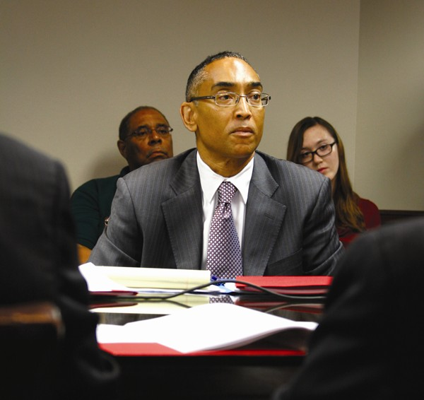 Former DeKalb County CEO Vernon Jones interviewed suspended county CEO Burrell Ellis during a recent radio show on WAOK. File Photo