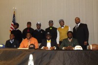 The Arabia Mountain High School football program had nine players sign on National Signing Day and expects 10 more player to sign, bringing the total to 19, the most in program history. Photo by Carla Parker