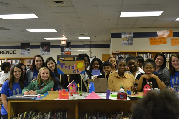 Chapel Hill Middle School students participate in the YWCA's Teen Girls in Technology. The program has more than 500 metro Atlanta students. Photos provided