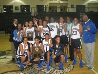 The Stephenson Lady Jaguars' junior varsity basketball team became back-to-back DeKalb County champions after beating Redan 55-46.