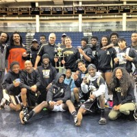 The Lithonia wrestling team won first place in the Region 6AAAA Area Tournament Feb. 1.