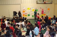 Indian Creek Elementary School students learn that tobacco use is dangerous to their health.