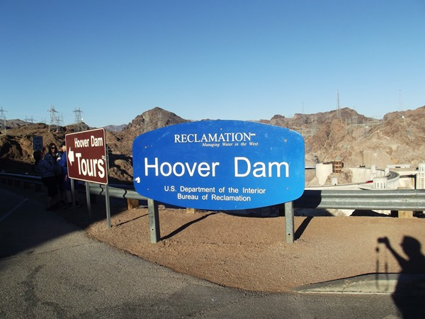 The Hoover Dam is 726 feet high and took five years to build.