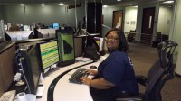 Danielle Harvey was named the 2014 National Smart911 Telecommunicator. The award is given to an individual who has shown outstanding support, dedication and service at work. Photos by Marta Garcia