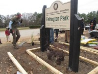 "Donations and volunteers are needed to build a playground at Fairington Park as part of the ""Raise the Park"" project."