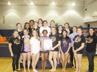Lakeside High School gymnastics team won its third consecutive county title April 3. Photos by Carla Parker