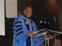 """The state of our college is good,"" said Georgia Piedmont Technical College President Jabari Simama on April 10."