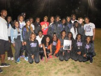 The Miller Grove girls' track and field team won its first high school county title March 31.