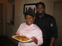 Roshonda and Tony Smith, owners of Family First Catering, say they both have enjoyed cooking for others for as long as they can remember. Photo by Kathy Mitchell