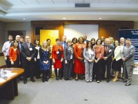 Corporate supporters and those in the community who are involved with the American Red Cross got together at the DeKalb business meeting, held on March 27 at the metropolitan headquarters located in Monroe Drive.  Photo by Marta Garcia