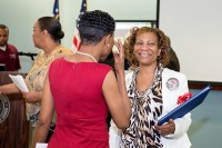 Patricia Roberts, Addison's mother, is overjoyed by the overwhelming support of attendees. Photos by Justin Beaudrot