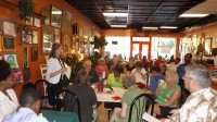 The Stone Mountain Business Association held its inaugural meeting at Stone Mountain Bakery May 8. Photo by Carla Parker