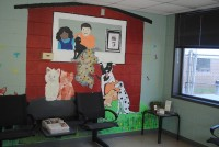 The intake area at the DeKalb County animal shelter recently received a facelift and a paint job. Photos provided