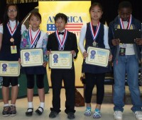 From left, Indian Creek Elementary's Top 5 math students (in descending order) include Rachel, Prae Mo, Jason Lian, Mee Meh and Precieux Vangu. Photo by Andrew Cauthen