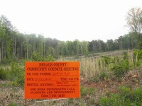 The proposed school would be built on land cleared for a subdivision that was never constructed. Photos by Andrew Cauthen