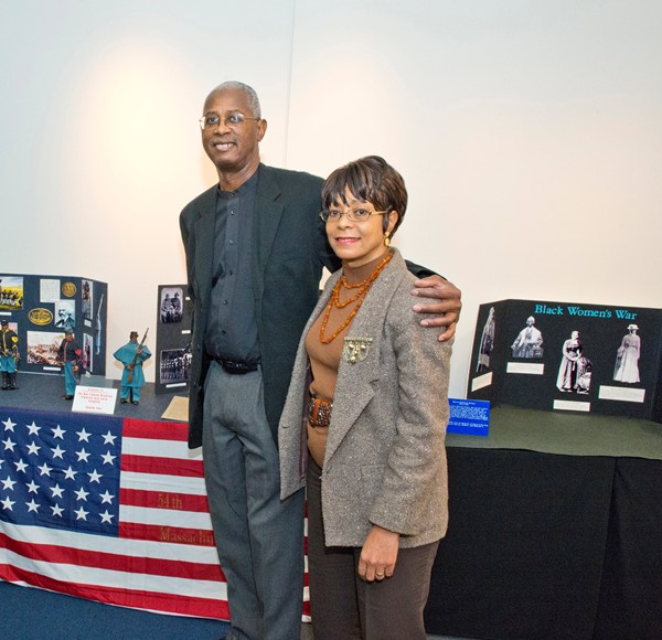 Rob and Deb Williams frequently participate in events to educate the public on the role of Black Americans in military history.at recent exhibit