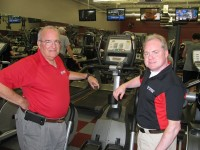 Owner Bill Aicklen and manager Kip Schoepke say their equipment is selected for ordinary men and women who want to stay fit. Photo by Kathy Mitchell