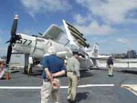 Exploring the aircraft on the flight deck of the USS Midway Museum is one of many things to do aboard the decommissioned vessel. Photos by Gale Horton Gay