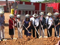 Interim DeKalb County CEO Lee May, DeKalb Fire Chief Darnell Fullum and other city and county officials celebrated the ground breaking of a new first station located in Avondale Estates. Photos by D. Beauregard