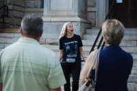 Boo Newell, a professional psychic medium, conducts the Decatur ghost tour most weekends. Photos by Lauren Ramsdell