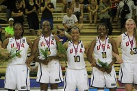 St. Pius guard Asia Durr (No. 10) helped lead the USA Basketball Women's U17 World Championship to a gold medal in the 2014 FIBA U17 World Championship.