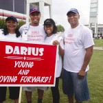 The Gilchrist family, from left to right Synetha, Darius, Tamara and Ernest, at last year's Georgia Walk to Defeat ALS in Atlanta. Darius led a team of walkers, Young and Moving Forward, that donate to the ALS Association's fight against the disease. Photo provided