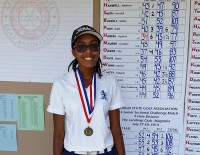 Thirteen-year-old Ayanna Habeel won the 2014 Georgia State Golf Association Junior Sectional Challenge in the girls 12-13 division.