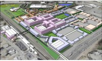 This rendering shows what the redevelopment of the General Motors plant in Doraville could look like. Potential developers Integral Group and McCauley + Schmidt have said they are willing to work with the city's livable centers initative.