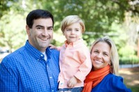 Tim Nama with his wife, Stacey, and their oldest son Miller.