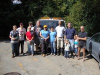 Volunteers picked through tons of trash in Nancy Creek in Doraville on Sept. 20 for the city's annual stream cleanup. Photo provided