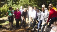 The Friends of Rutledge Park along with DeKalb County officials broke ground for the new 1.5-acre Rutledge Park Sept. 17.