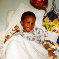 "Kevin Pearson, 27, was diagnosed with sickle cell anemia at 9 months old. He has Hemoglobin SS disease, the most common type of sickle cell disease. Pearson (at age 5) said he was 4 years old when he realized that he had sickle cell, when he was ""going back and forth to the hospital."""